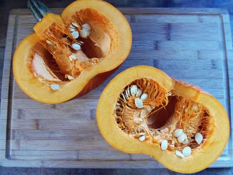 Pumpkin Split in Half