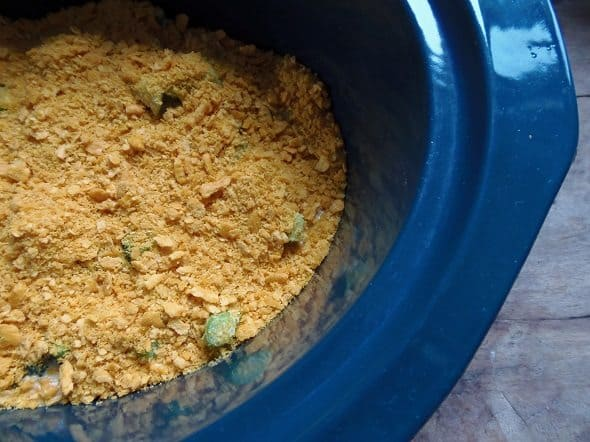 Sprinkle Cracker Crumbs on Broccoli Casserole
