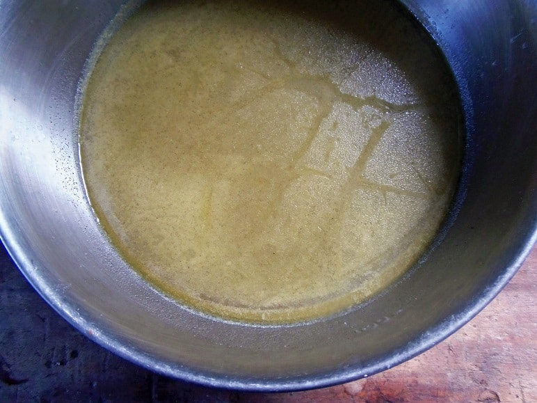Broth With Vegetables and Bones Strained Out