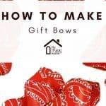 Homemade Gift Bows