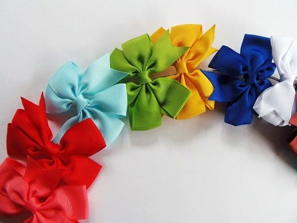 Closeup of Hair Bow Wreath
