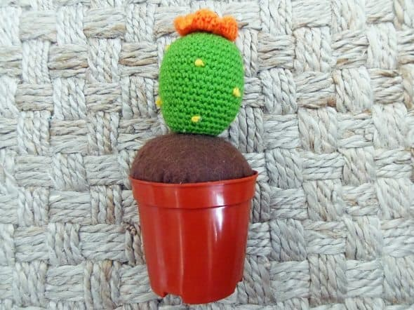 Crocheted Christmas Cactus
