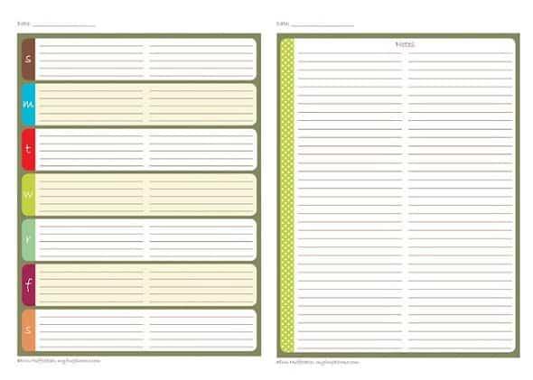 Printable Weekly Planner - 8.5 x 11