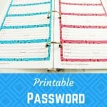 Sweet image within printable password organizer
