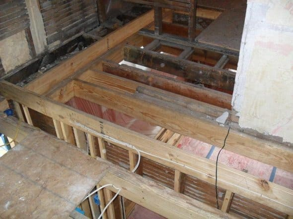 Upstairs Floor Joists