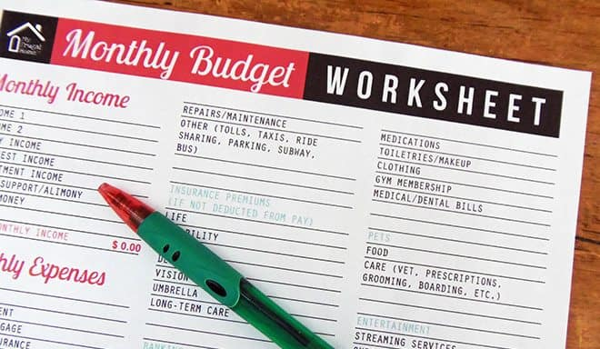 picture regarding Printable Budget Template named Printable Month-to-month Spending plan Worksheet
