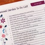 Winter Garden To-Do List