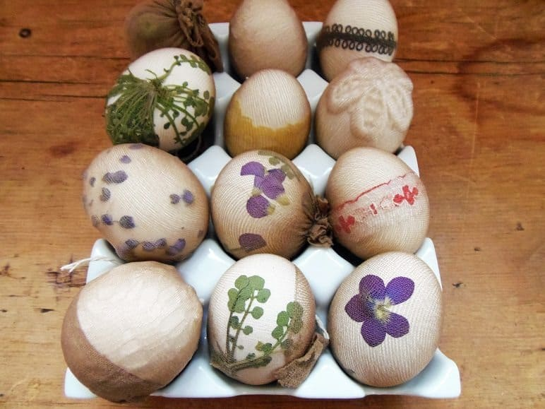 Eggs Wrapped in Lace and Flowers
