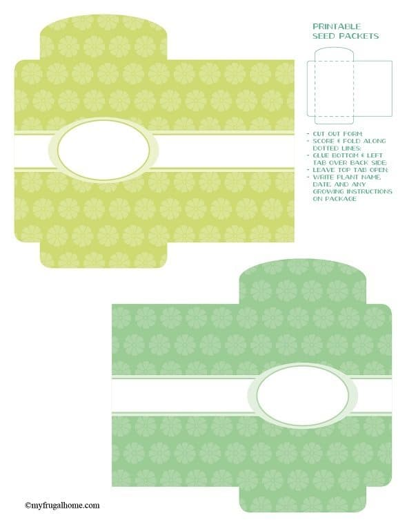 Floral Printable Seed Packets