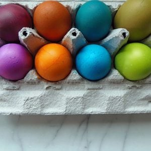 Easter Eggs Dyed Without a Kit