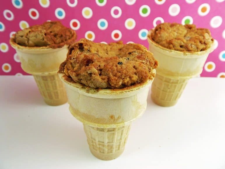 Ice Cream Cone Cupcakes Made With Blondies