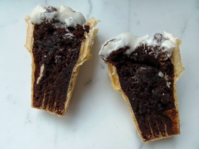 Inside of Ice Cream Cone Cupcake