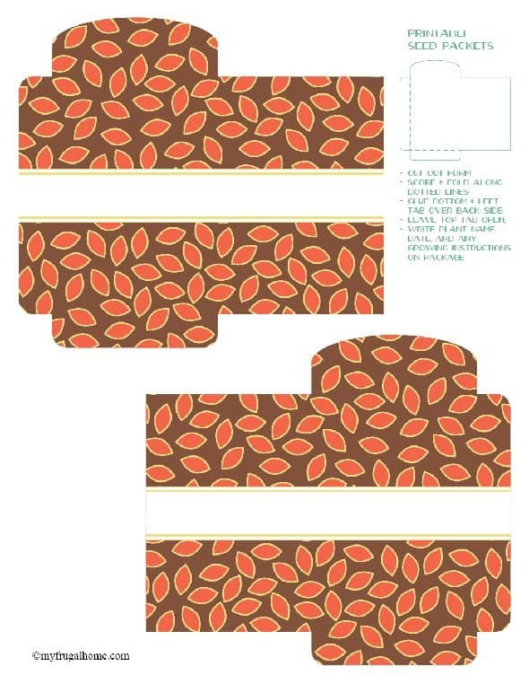 Leaf Printable Seed Packet