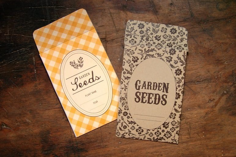 Yellow and Brown Seed Packets