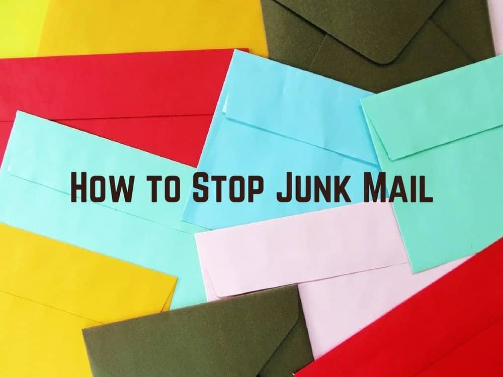 How to Stop Junk Mail Graphic
