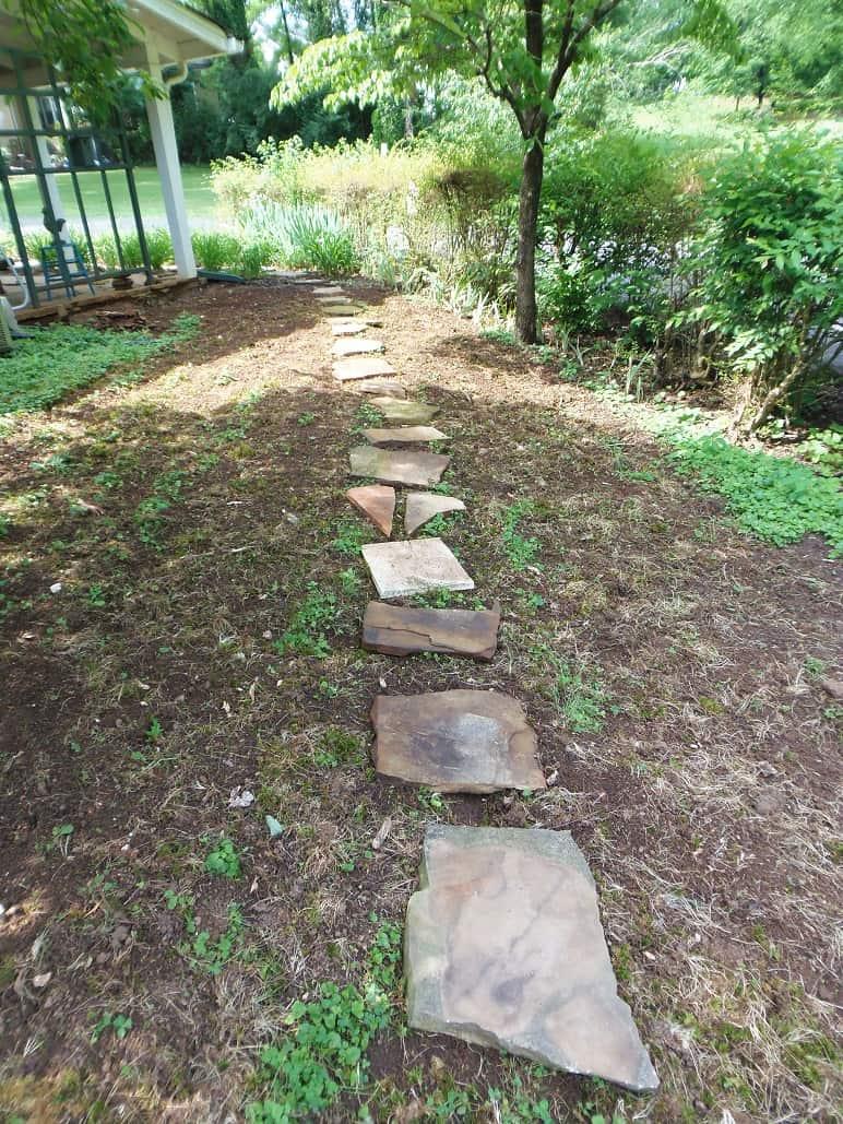 Extended Flagstone Walkway