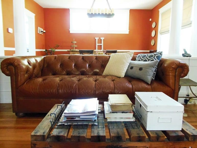 Second-Hand Leather Sofa
