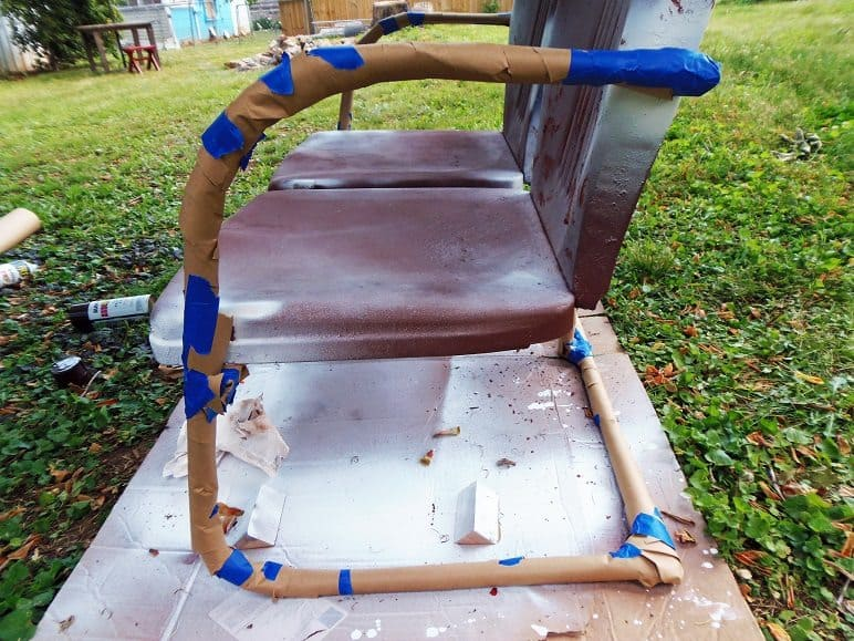 Masked Off Arms On Outdoor Chair