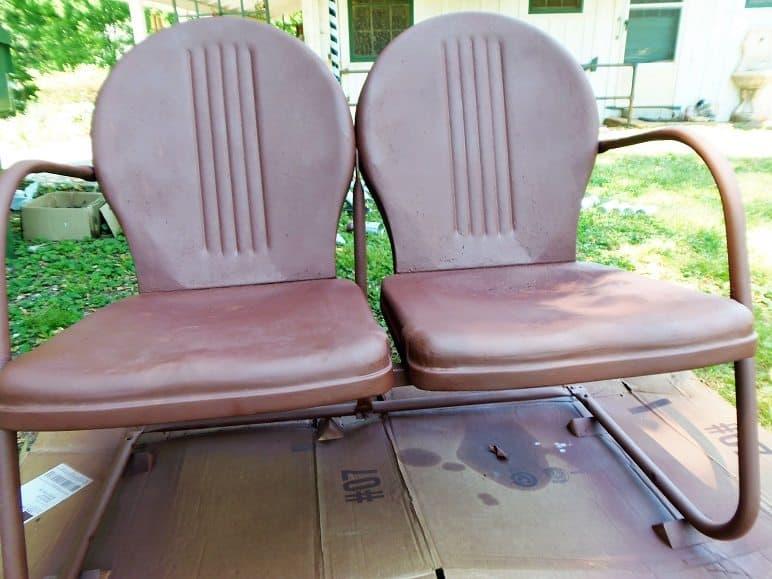 Primed Metal Outdoor Furniture