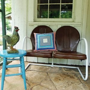 Repainted Metal Outdoor Furniture