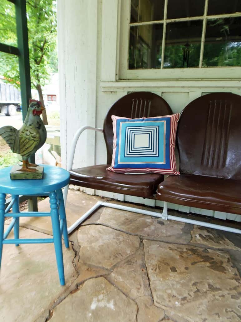 Repainted Outdoor Loveseat