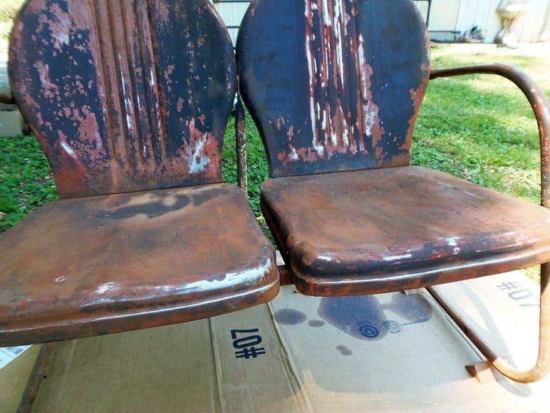 Sanded Metal Outdoor Furniture