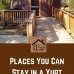 Places You Can Stay in a Yurt Pin Graphic