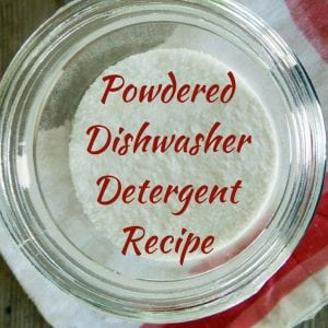 Powdered Dishwasher Detergent Recipe Pin Graphic