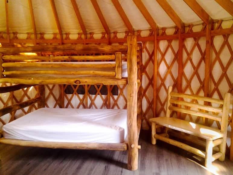 Bunk Beds in Yurt