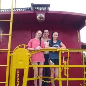 Family Picture on Back of Caboose