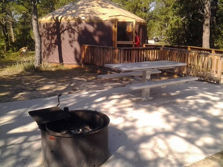 Outside of Yurt - Fire Pit and Picnic Area