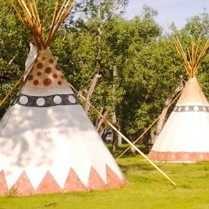 Teepees at a Campground