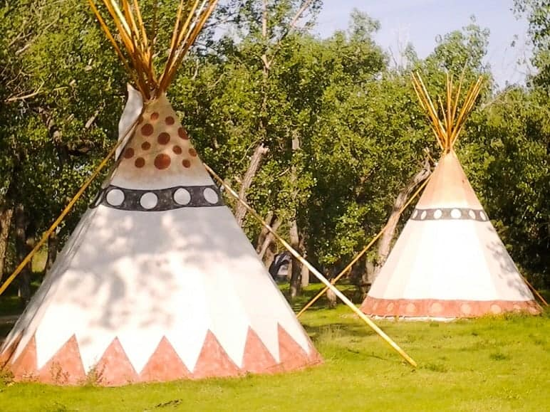 Teepees in a KOA Campground