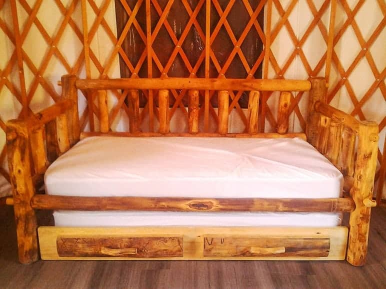 Trundle Bed in Yurt