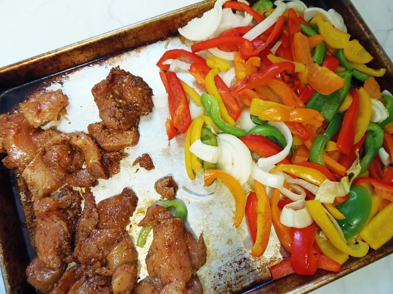 Marinated Fajita Chicken and Veggies