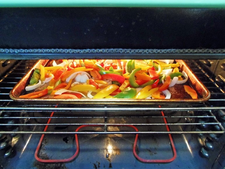 Peppers and Onions in the Broiler