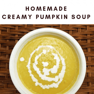 Creamy Pumpkin Soup Pin Graphic