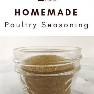 Homemade Poultry Seasoning Pin Graphic