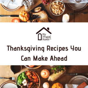 Thanksgiving Recipes You Can Make Ahead Pin Graphic