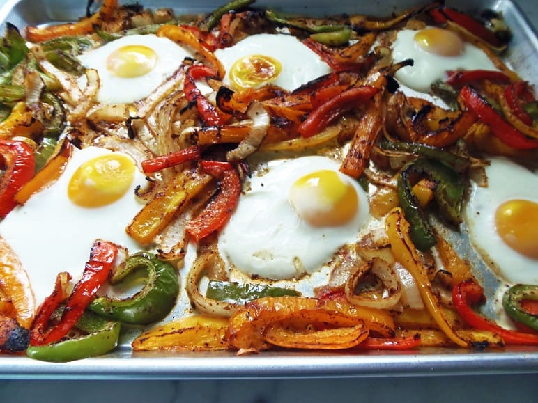 Sheet Pan Breakfast Fajitas Closeup