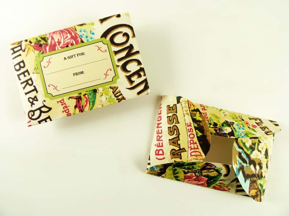 Printable Floral Gift Card Holders