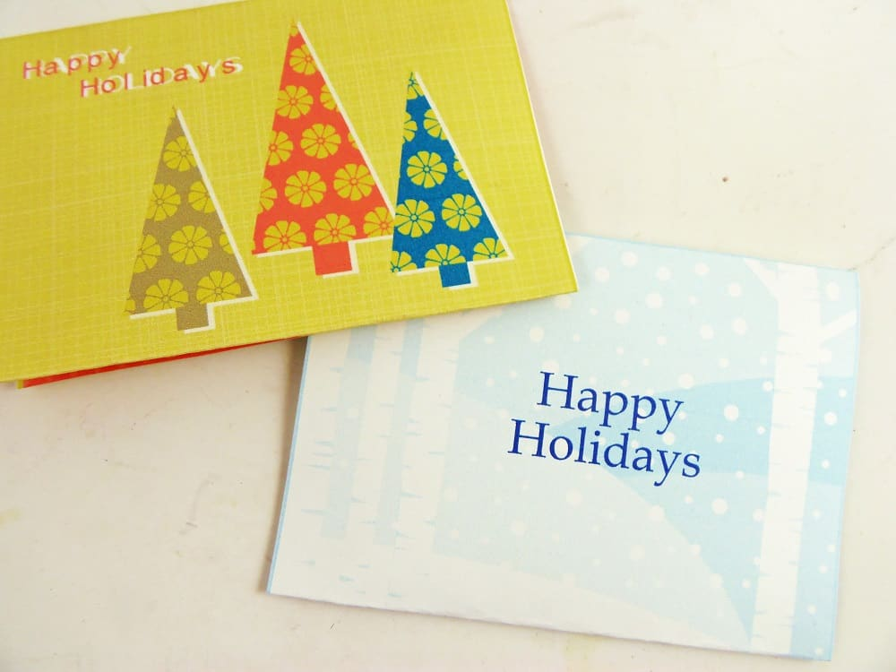 Printable Holiday Gift Card Holders