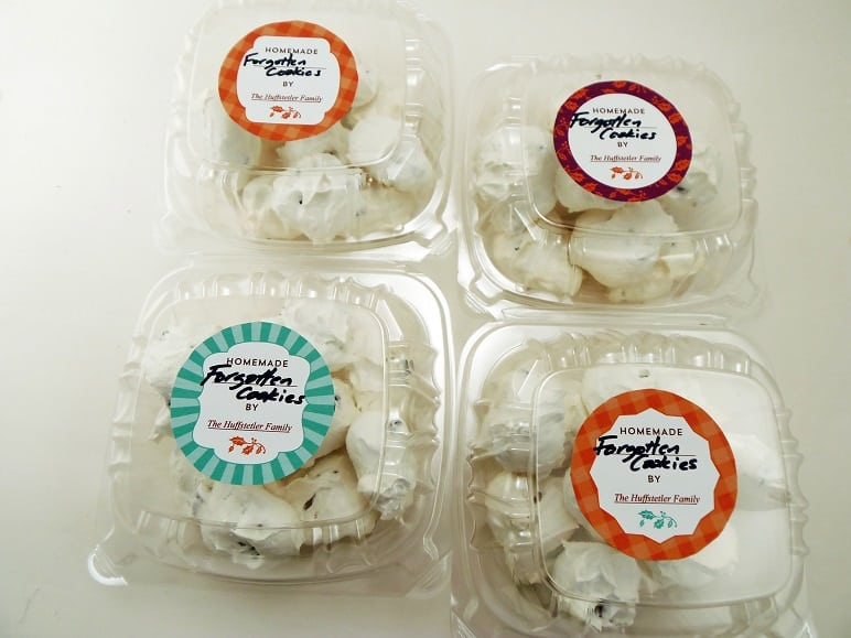 Boxes of Chocolate Chip Meringue Cookies