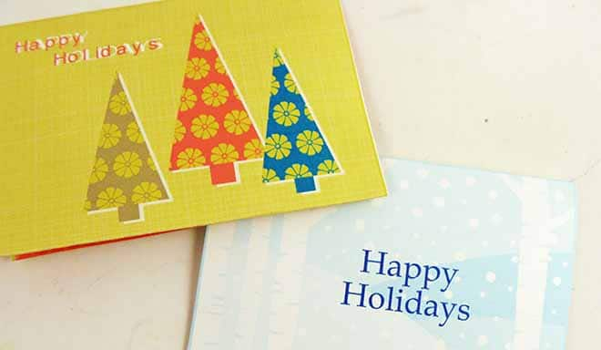 Printable Holiday Gift Card Holders