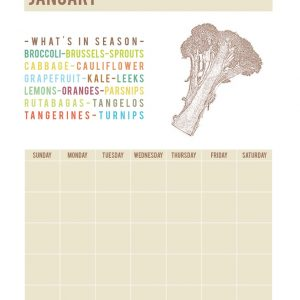 Printable What's In Season Calendar