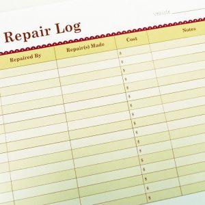 Printable Car Repair Log