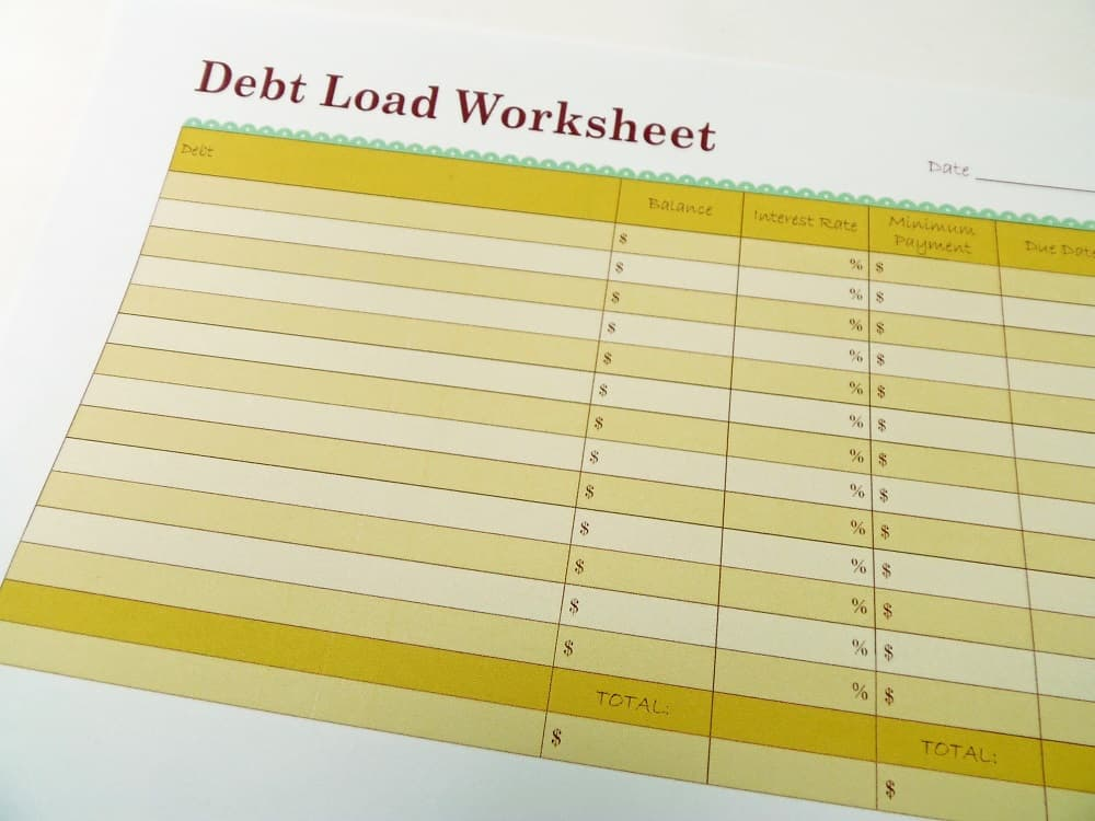 Debt Load Worksheet