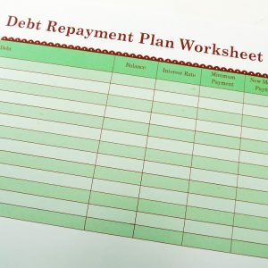 Debt Repayment Plan Worksheet