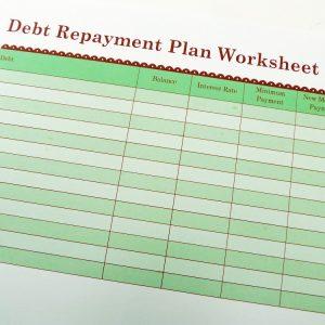Debt Repayment Plan Worksheet