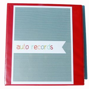 Auto Records Binder
